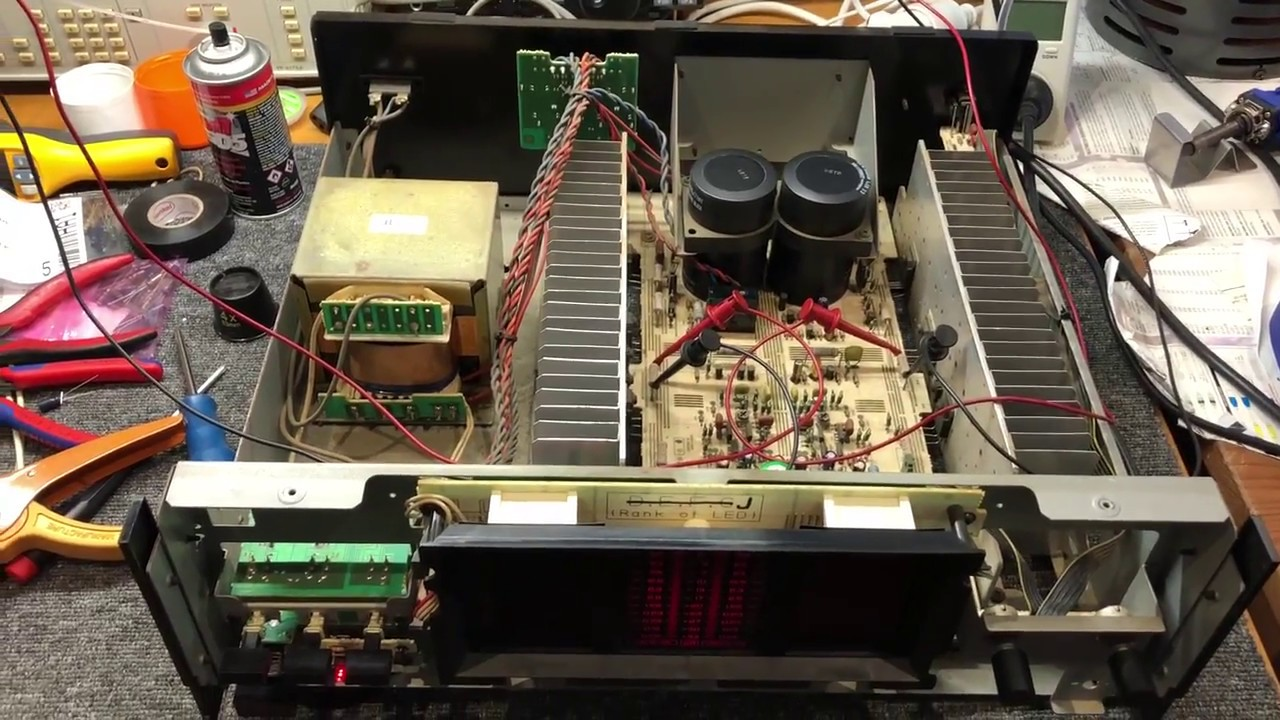 yamaha mx 600 power amplifier repair look inside youtube. Black Bedroom Furniture Sets. Home Design Ideas