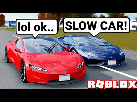 Mean Tesla Hater Says My $5M Tesla Roadster SUCKS! Then This Happened! (Roblox Greenville)