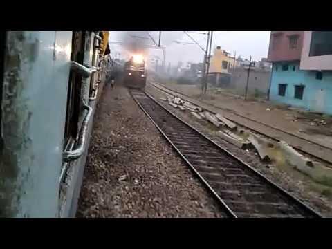Satyagraha Express Entering Muradabad [ Indian Railways ]