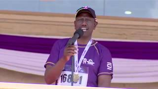 DP WILLIAM RUTO SPEECH AFTER FINISHING 21 KM AT BEYOND ZERO MARATHON 2019!!!