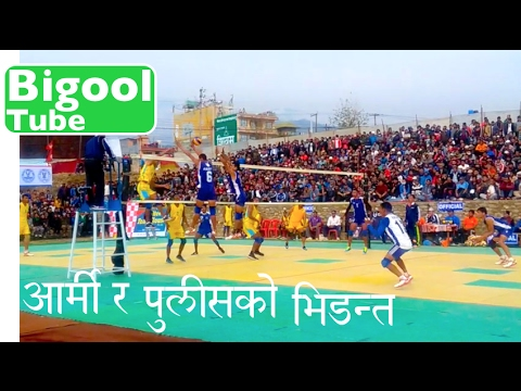 Nepal Army Club vs APF Srijana International Women's and Men's Volleyball Championship Pokhara Nepal