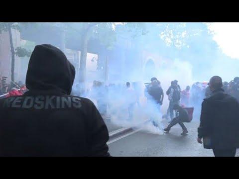Fonctionnaires: violences en marge du cortège parisien