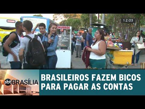 "Brasileiros fazem ""bicos"" para pagar as contas | SBT Brasília 24/07/2018"