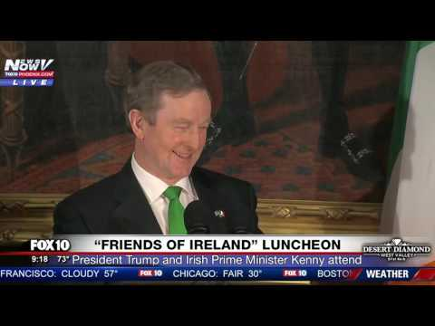 JOKESTER: Irish Prime Minister Enda Kenny Pokes Fun at Trump Staying Entirely on Script (FNN)