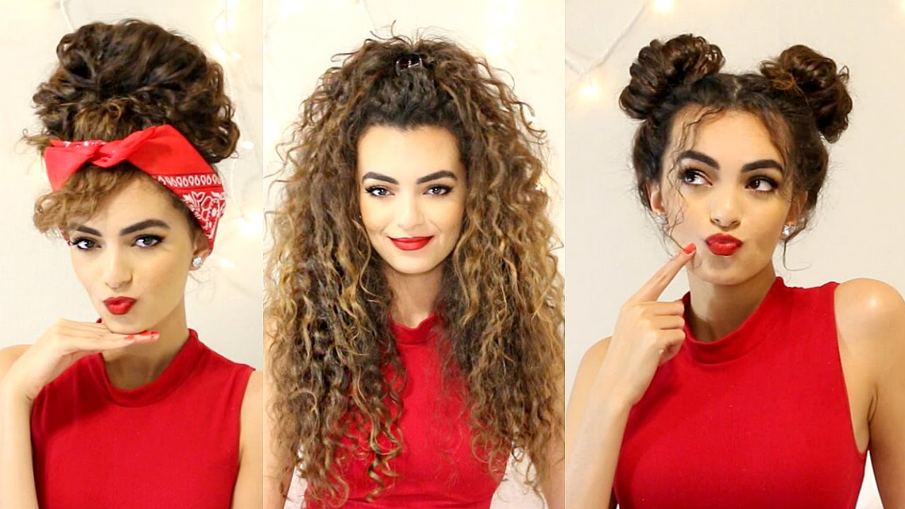 curly hairstyles for a semi-bad hair day! | itsrimi