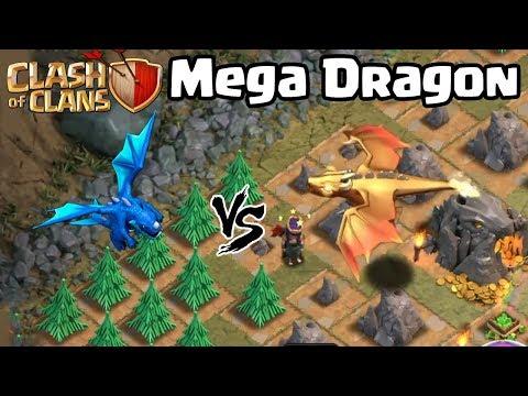 Giant/Mega Dragon vs Electro Dragon - New Dragon Clash of Clans Update - Dragon's Lair - COC