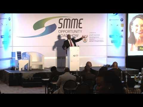 Kenni Gambo, motivational speaker, at the SMME Opportunity Roadshow Port Elizabeth