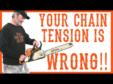 How To Properly Adjust the Chain Tension on your Chainsaw.