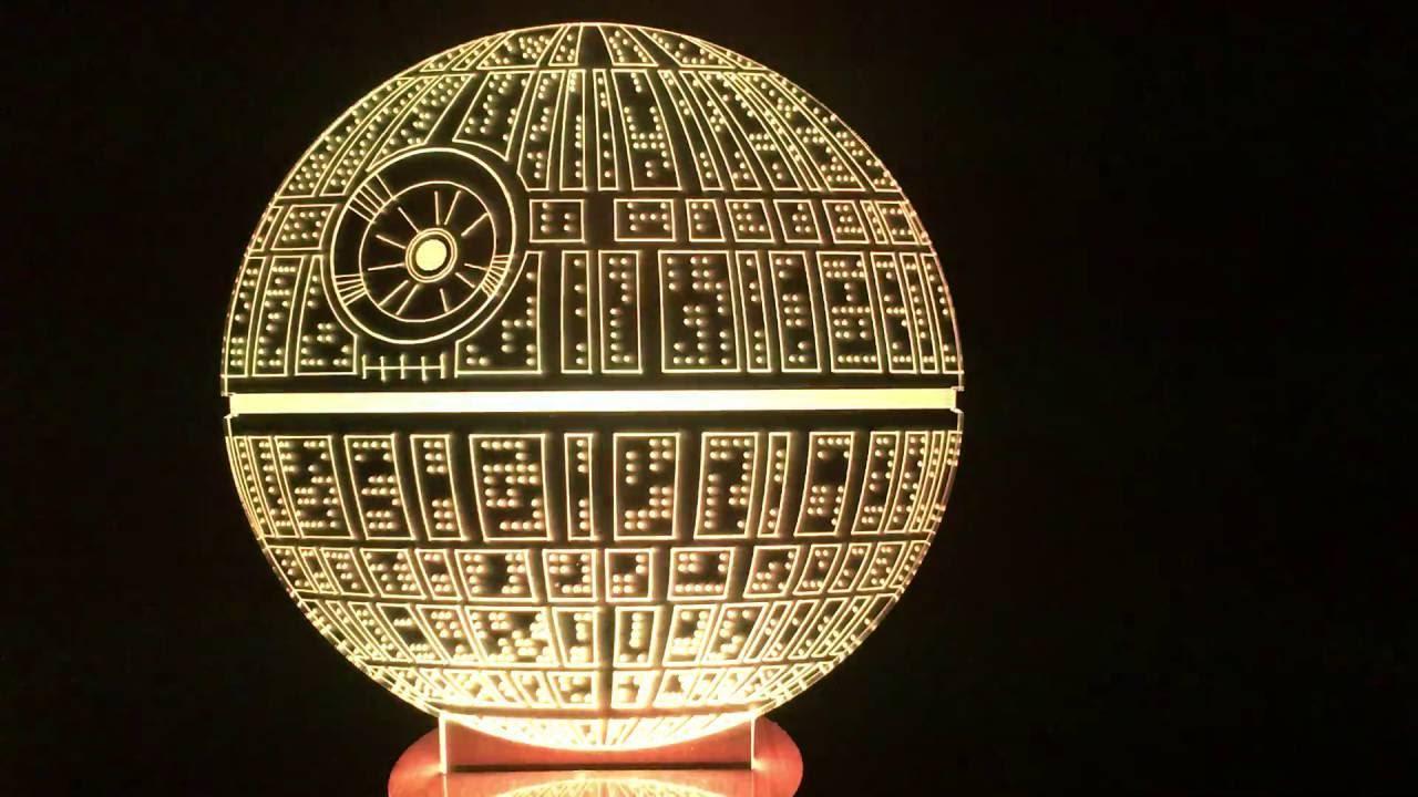 Star Wars Death Star 3d Bulbing Light Youtube