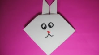 How To Make Origami Cute Rabbit Face