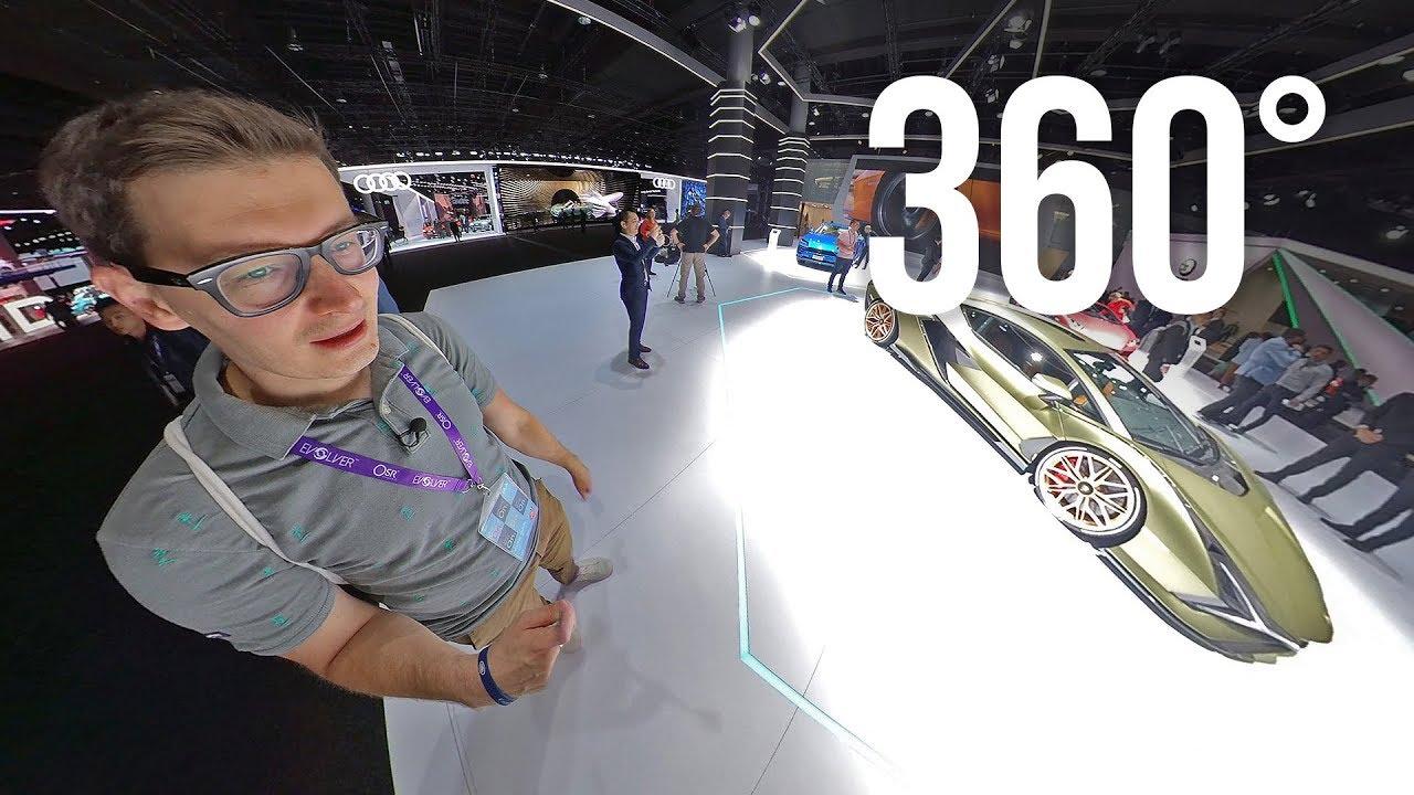 * 360 5K * ГЛАВНЫЕ НОВИНКИ ВЫСТАВКИ: TAYCAN, DEFENDER 2020, X6, AUDI RS 7 в формате 360 градусов