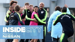 MAHREZ TRAINING GROUND NUTMEG! | INSIDE CITY 316
