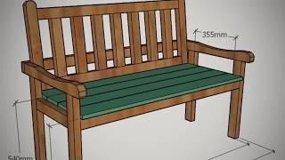 Садовая скамейка своими руками + чертежи и описание в мастер-классе по ссылке - Артель Русичи