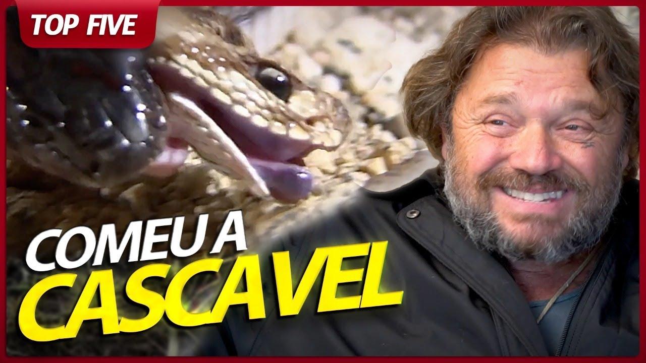 UMA MUÇURANA COMENDO UMA CASCAVEL VIVA! | RICHARD RASMUSSEN