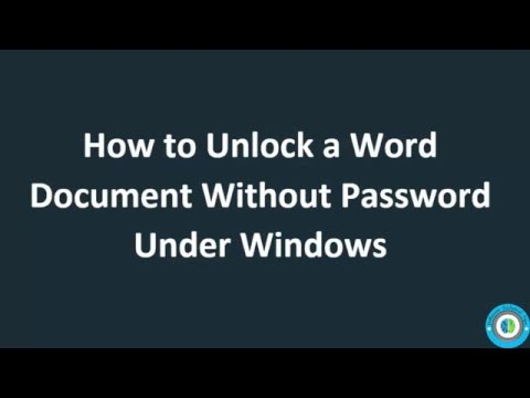 How To Unlock A Word Documnet Without Knowing The Password