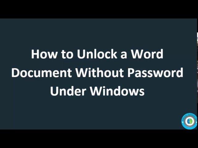 forgot word document password 2016
