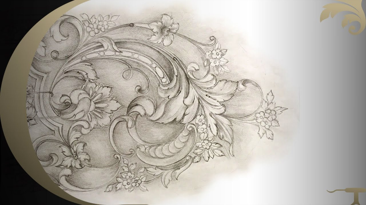 Wood carving school online french rococo panel