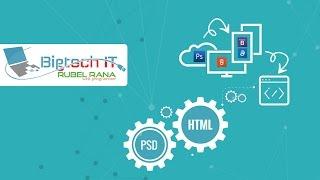 Basic PSD to HTML bangla tutorial-class-1