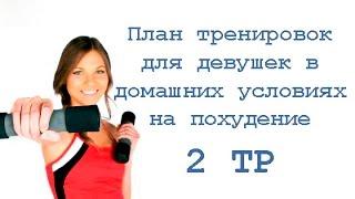 План тренировок в домашних условиях для девушек на похудение (2 тр)