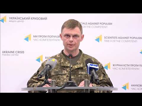 Col. Maksym Prauta, Ministry of Defense of Ukraine spokesperson. UCMC 27.04.2018