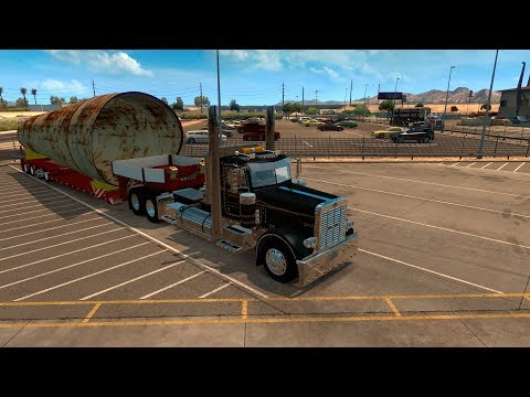 American Truck Simulator A BIG PIPE Then to the Race Track