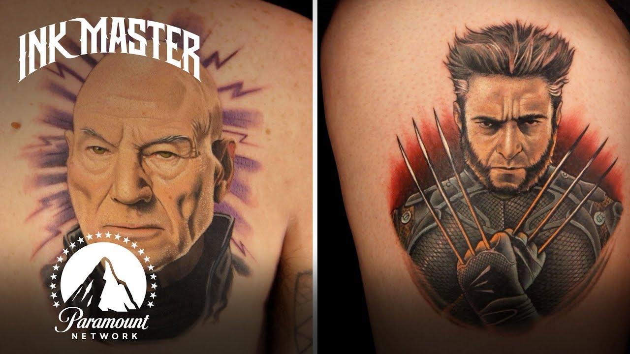 Download Best Tattoos of Ink Master (Season 4) | X-Men Tattoos ft. Hugh Jackman
