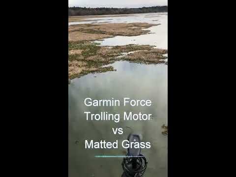 Garmin Force Trolling Motor: Real World Test Vs Matted Grass
