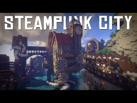 Steampunk City Timelapse | Minecraft Let's Build It!