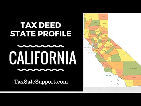 California Tax Deed Foreclosure State Review - Live Investor Research