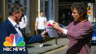 'Get Out Of My Pub!: Anti-Lockdown Pub Landlord Confronts U.K. Labour Party Leader | NBC News NOW