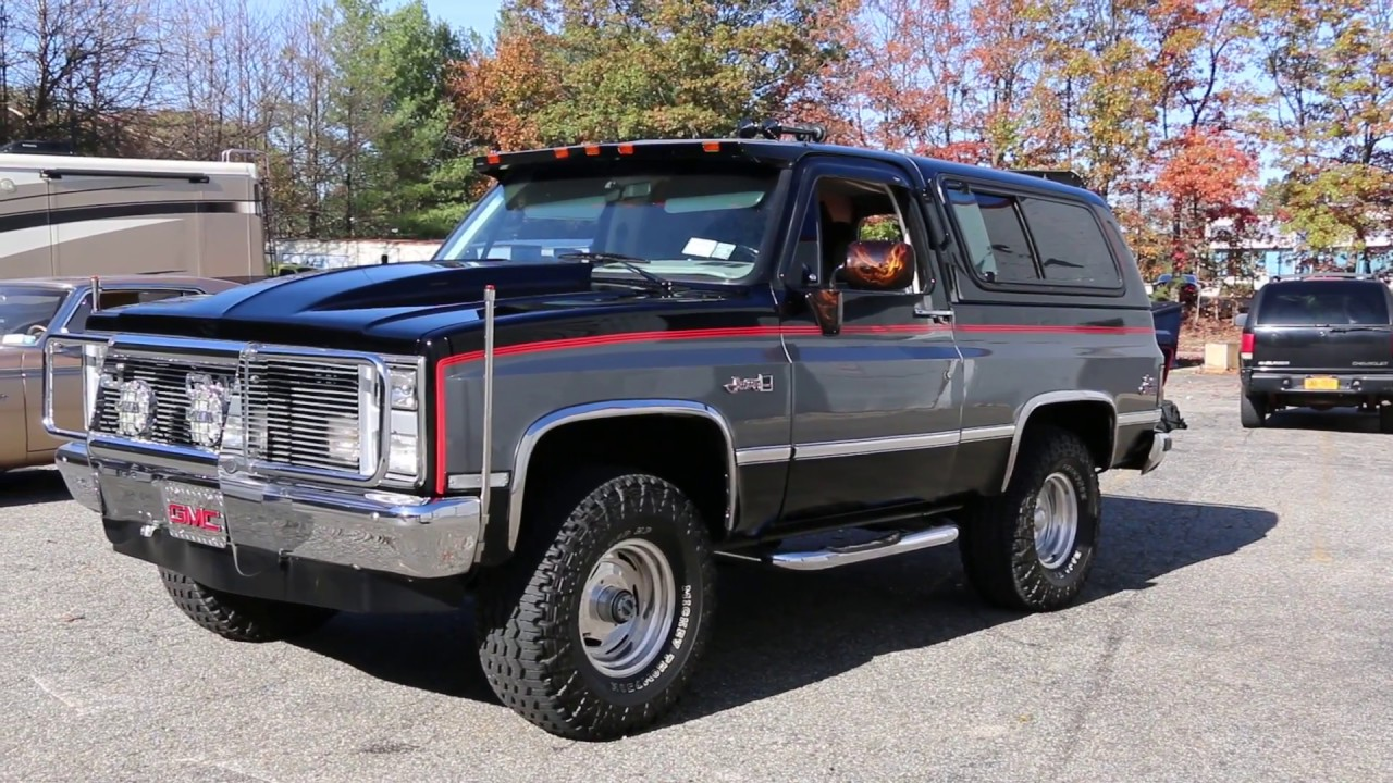 19 995 lifted 1987 gmc sierra classic jimmy for sale show truck low miles beautiful condition [ 1280 x 720 Pixel ]