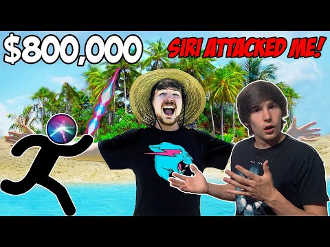 I Bought A Private Island MrBeast Reaction! Attacked by Siri!