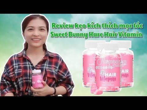 Review kẹo kích thích mọc tóc Sweet Bunny Hare Hair Vitamin