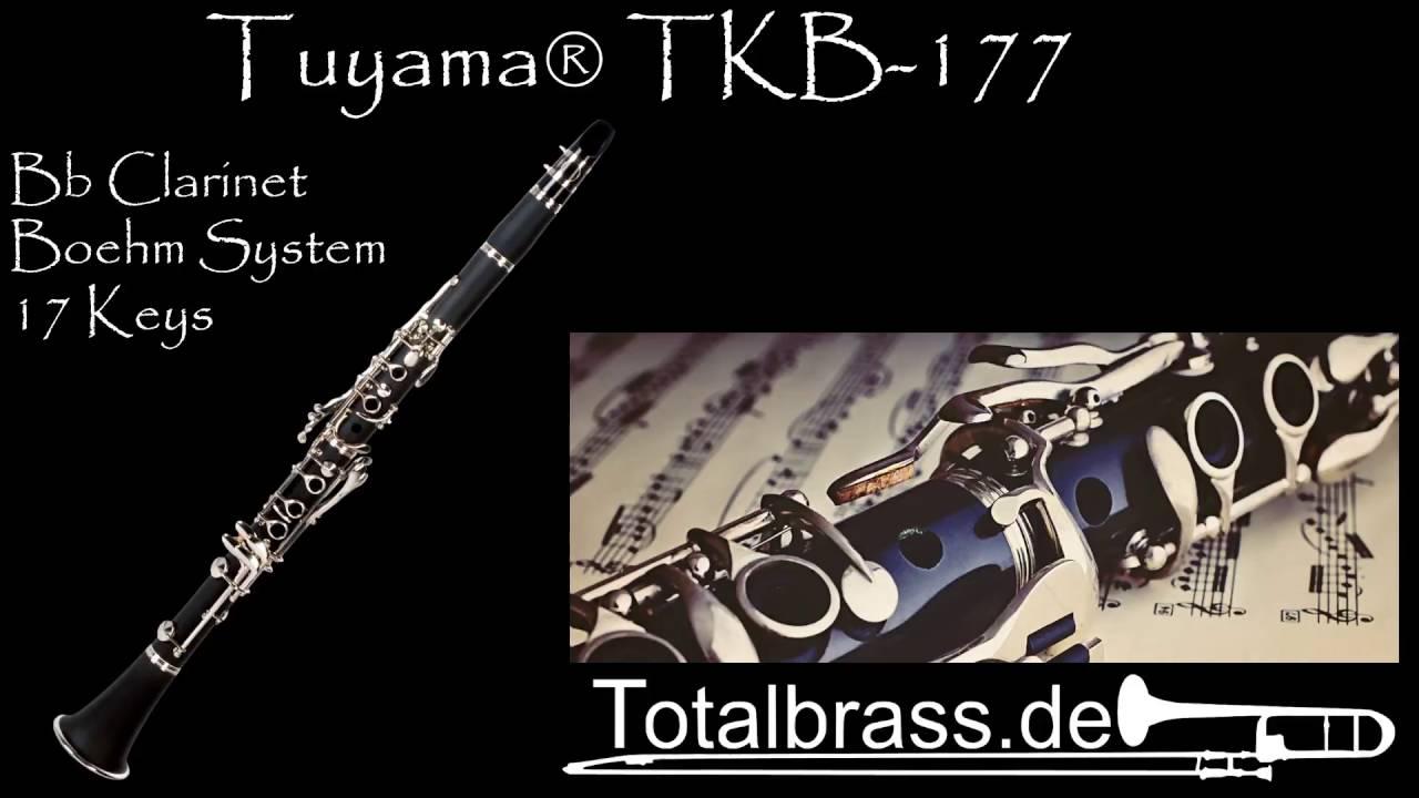 Tuyama/® TKB-177 Clarinete en Sib sistema Boehm