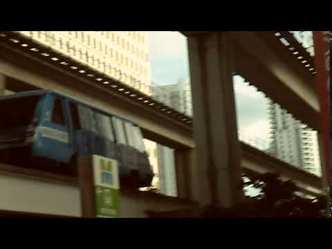 Miami Metromover Brickell Loop Departing from the Government Center Transfer Station