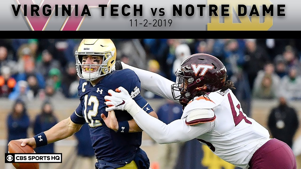No. 16 Notre Dame needs late touchdown to get past Virginia Tech