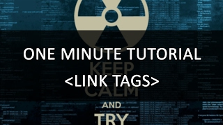How to create an Link Tag | One Minute Tutorial | HTML Code