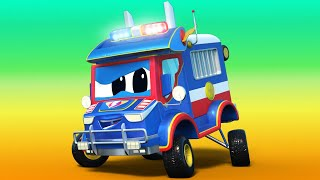 Police car for kids -  FATHER'S DAY : Baby ROCKET has a SURPRISE for his DAD - Super Truck !