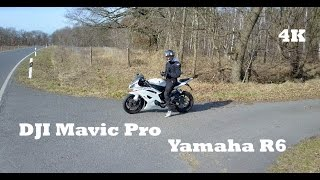 DJI Mavic Pro and Yamaha R6 ⎟Drone & Motorcycle⎟Active Track Test