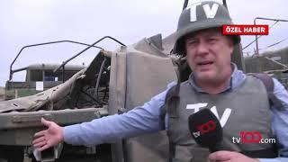 tv100 ekibi ateş hattında! Ermenistan ordusu Karabağ'da hezimete uğruyor