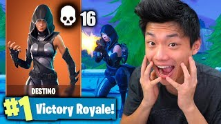 I UNLOCKED THE NEW LEGENDARY SKIN OF DESTINY!! Fortnite: Battle Royale