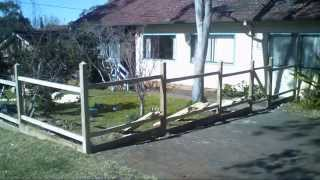 Time Lapse - Construction Of Picket Fence