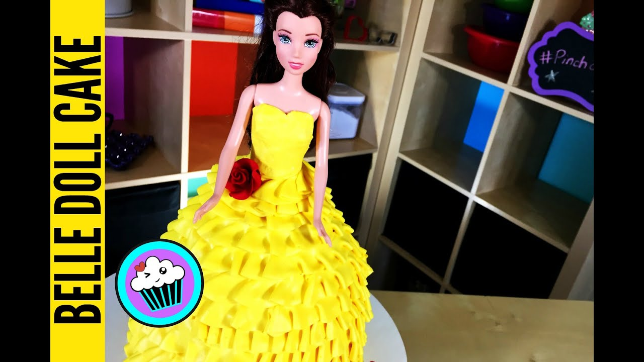 How to make Disneys Belle Doll Cake Pinch of Luck YouTube