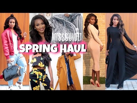 SPRING TRENDS FASHION HAUL & TRY ON | MISSGUIDED, ASOS, ZARA, AQ AQ, PRETTYLITTLETHING