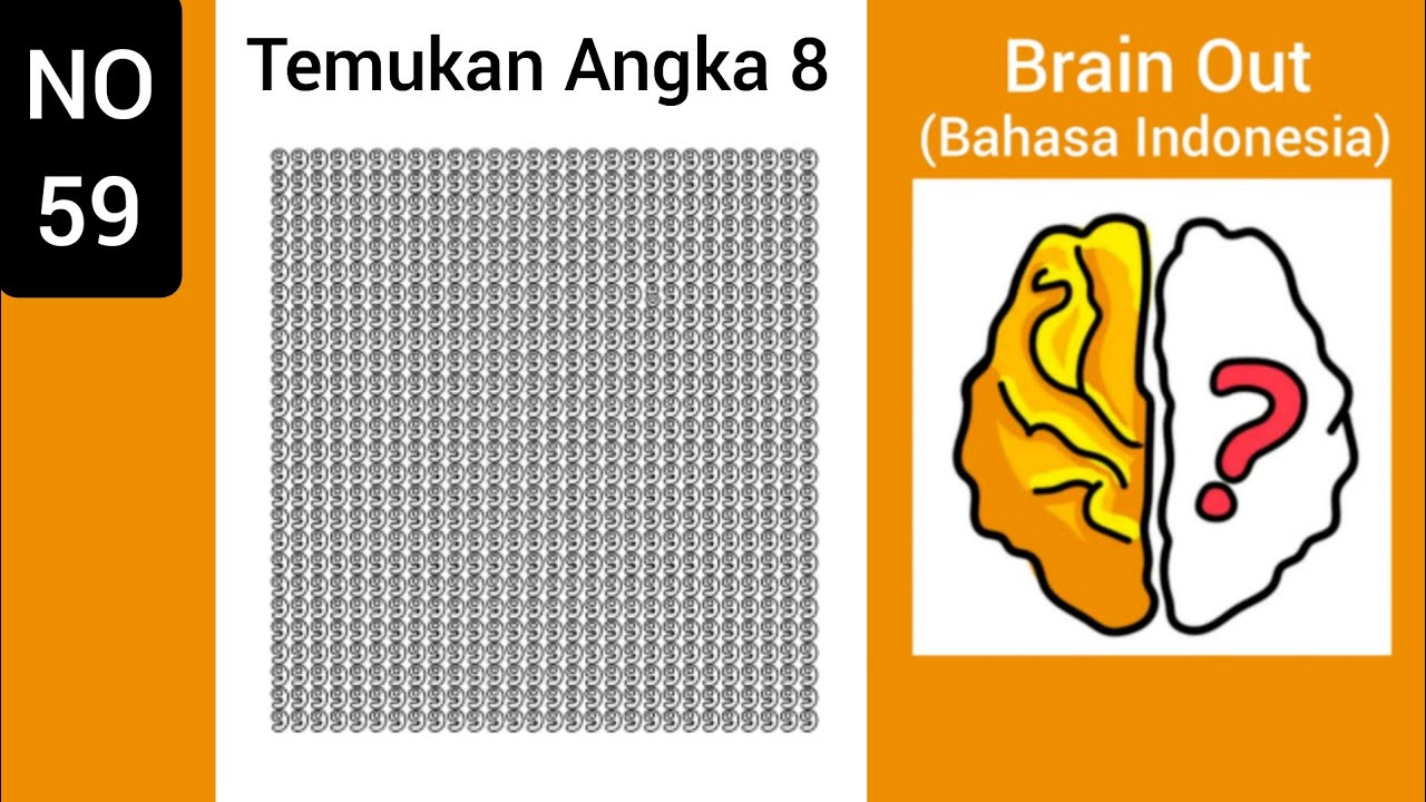 Brain Out Level 59 Temukan Angka 8