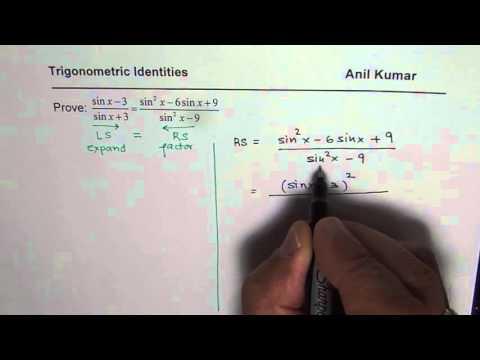 Trigonometric Identity Strategy By Factoring