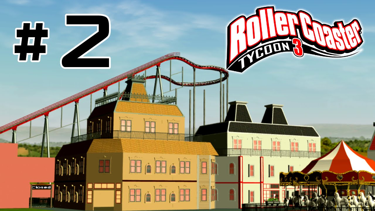 Roller Coaster Tycoon 3 | Building a New Park With Custom Scenery and Time  Lapse Part 2