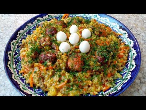 Узбекская блюда  ШАВЛЯ . Жидкий плов.. Узбекча миллий таом шавла.