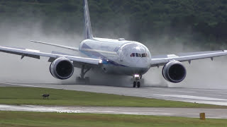 Boeing 787 almost vertical steep takeoff and landing