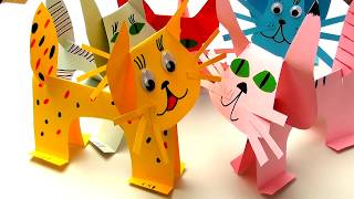 Funny cats 5 minutes DIY / Lisenok toys play with cats / Video for children from Lisenok toys